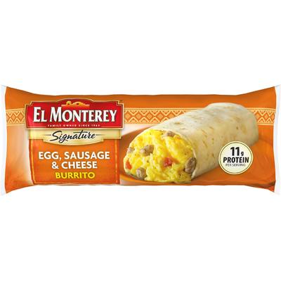 El Monterey Signature Egg, Sausage & Cheese Burrito