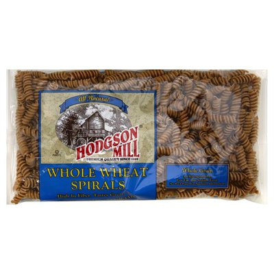 Hodgson Mill Pasta, Spirals, Whole Wheat, Whole Grain, Bag