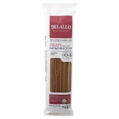 DeLallo Spaghetti, Organic, Whole Wheat, No. 04 Cut