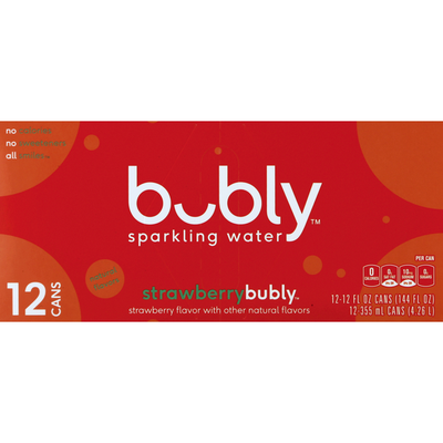 bubly Sparkling Water, Strawberry