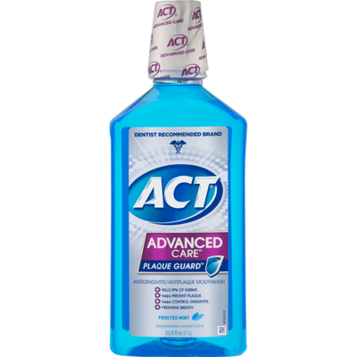 ACT Advanced Care Plaque Guard Mouthwash Frosted Mint