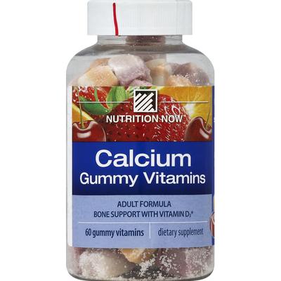 Nutrition Now Calcium, Gummy Vitamins, Orange, Cherry & Strawberry