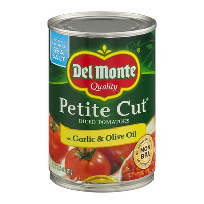 Del Monte Tomatoes, with Garlic & Olive Oil, Diced