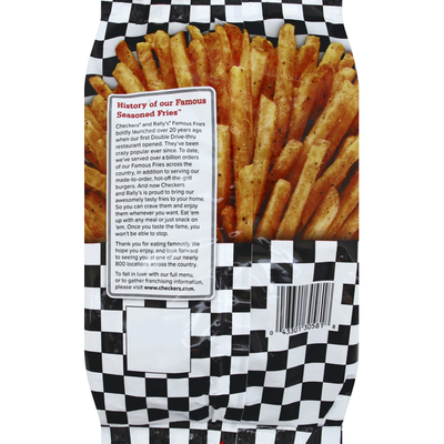 Checkers & Rally's Fries, Famous, Seasoned