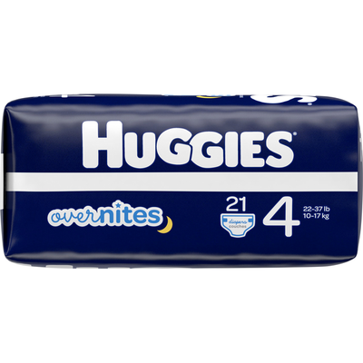 Huggies Nighttime Baby Diapers, Size 4