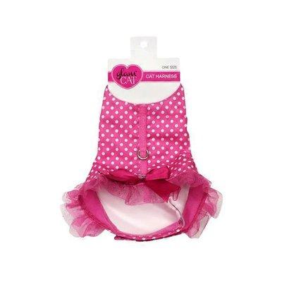 Petco Glam Cat Polka Dot Pink Tutu Cat Harness One Size