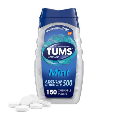 Tums Antacid Peppermint Chewable Tablets, Antacid Peppermint Chewable Tablets