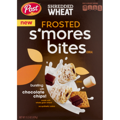 Post Shredded Wheat Frosted S'mores Bites Cereal