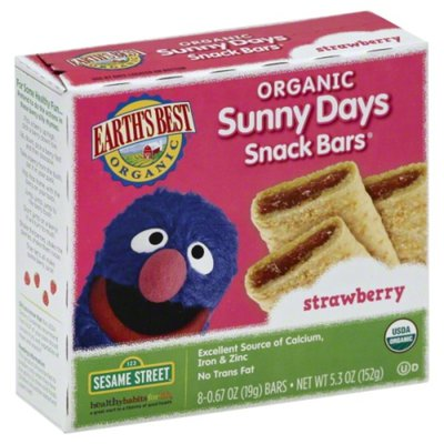 Earth's Best Sesame Street Strawberry Organic Sunny Days Snack Bars
