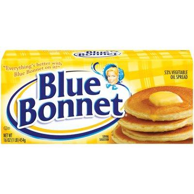 Blue Bonnet. Vegetable Oil Spread Quarters, 53%