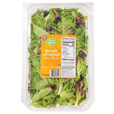 Wegmans Organic Spinach & Spring Mix, FAMILY PACK