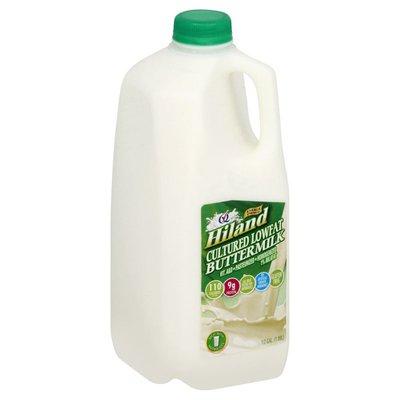 Hiland Dairy Buttermilk, Cultured Lowfat, 1% Milkfat