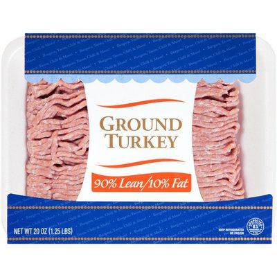 Natural Choice Foods 90%/10% Lean, 12/cs Ground Turkey (8930)