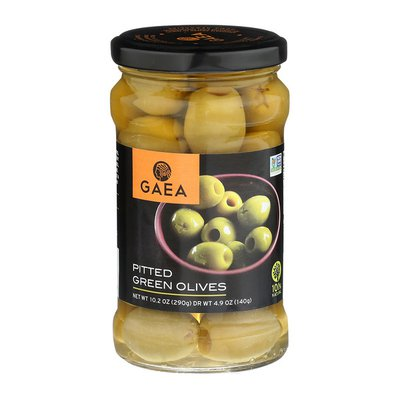 GAEA Pitted Green Olives