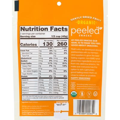 Peeled Snacks Dried Fruit, Gently, Organic, Mango