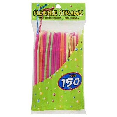 Jacent Straws, Flexible, Neon