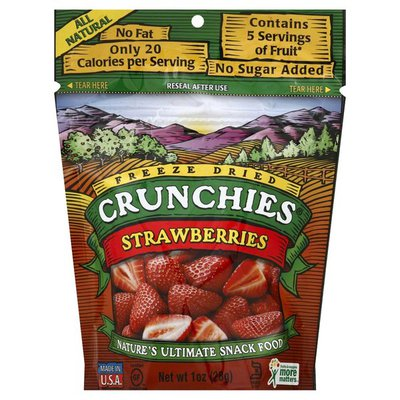 Crunchies Snack, Strawberries, Freeze Dried, Pouch