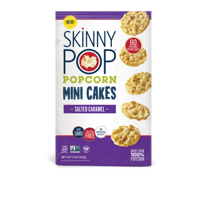 SkinnyPop Popcorn Mini Cakes, Salted Caramel
