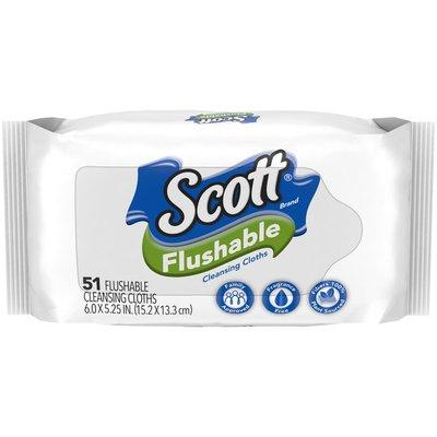 Scott Flushable Wipes