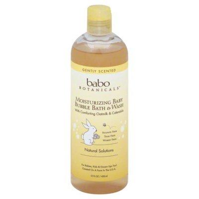 Babo Botanicals Bubble Bath & Wash, Baby, Moisturizing, Gently Scented