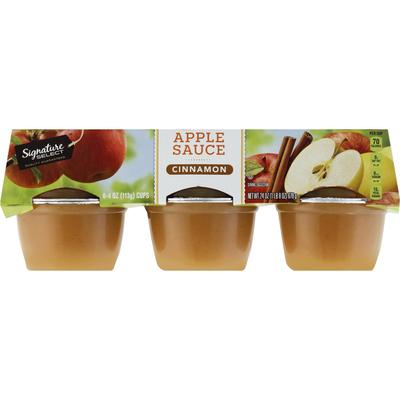 Signature Select Apple Sauce, Cinnamon