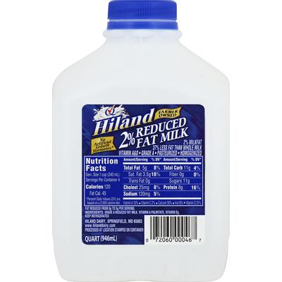 Hiland Dairy Milk, Reduced Fat, 2% Milkfat
