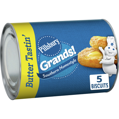 Pillsbury Grands! Southern Homestyle Buttermilk Biscuits, Honey Butter, 5 Count