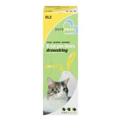 Van Ness Pure Ness Large Cat Pan Liners Drawstring - 8 CT