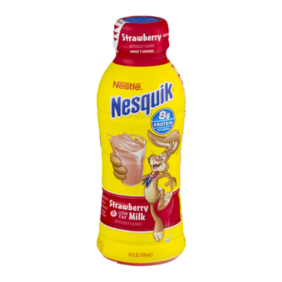 Nestle Nesquik Strawberry Flavored Lowfat Milk Ready to Drink