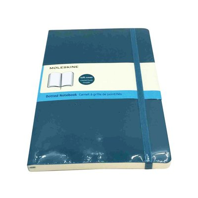 Moleskine Large Dotted Sapphire Blue Soft Cover Notebook