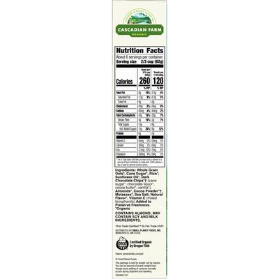 Cascadian Farm Organic Granola, Dark Chocolate Almond Cereal