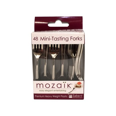 Mozaik Forks, Appetizer, Heavy Weight Plastic