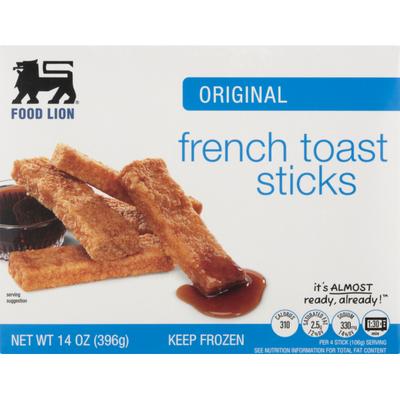 Food Lion Toast Sticks, French, Original, Box
