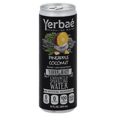 Yerbae Sparkling Water, Enhanced, Pineapple Coconut