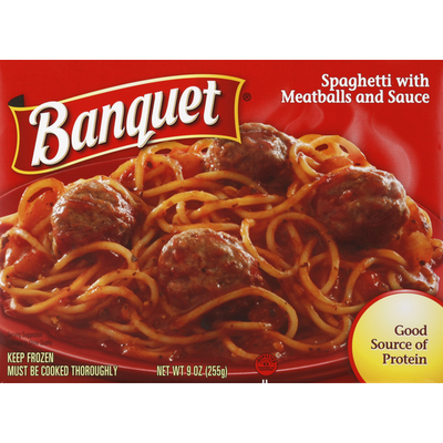 Banquet Spaghetti, with Meatballs and Sauce