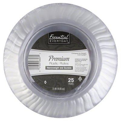 Essential Everyday Plastic Plates, Premium, 7.5 Inch
