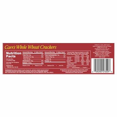 Kellogg's Carr's Crackers, Whole Grain Crackers, Whole Wheat