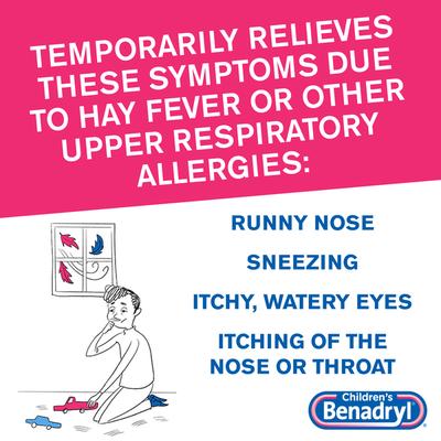 Children's Benadryl Children's Allergy Liquid, Cherry