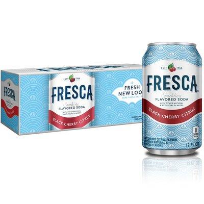 Fresca Black Cherry Soda Sparkling Flavored Soft Drink Zero Calorie And Sugar Free