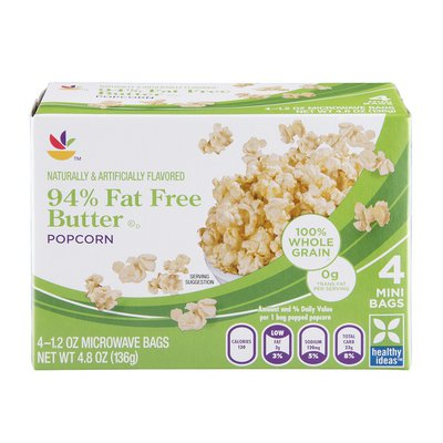 SB Butter Popcorn 94% Fat Free Microwave - 4 CT