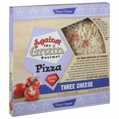 Against The Grain Gourmet Pizza, Gluten Free, Three Cheese