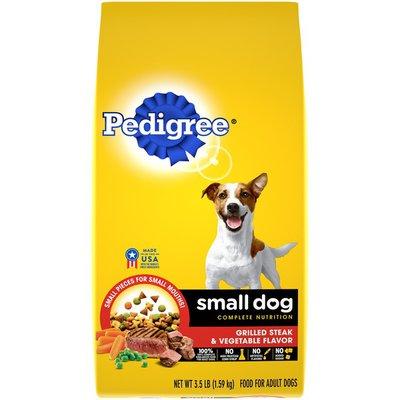Pedigree Small Dog Complete Nutrition Grilled Steak & Vegetable Flavor Dog Food
