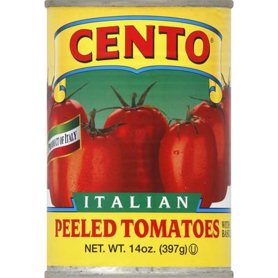 Cento Tomatoes, Italian, Peeled, with Basil Leaf