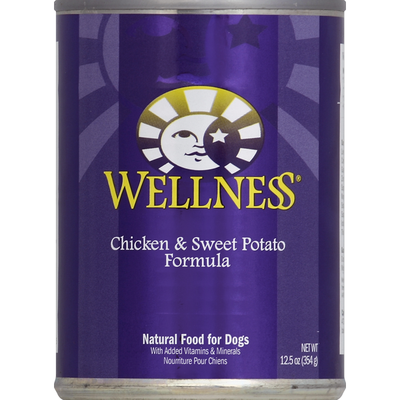Wellness Natural Food for Dogs, Chicken & Sweet Potato Formula