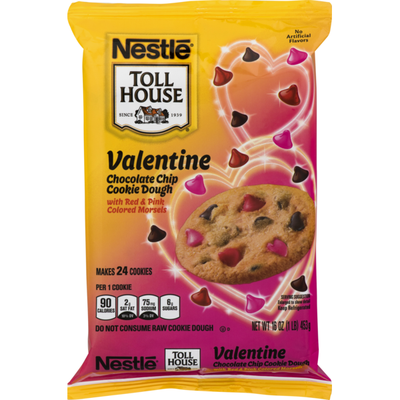 Toll House Chocolate Chip Cookie Dough Valentine