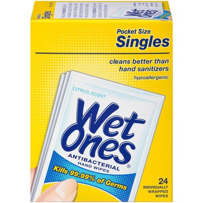 Wet Ones Wet Ones Antibacterial Hand Wipes Tropical Splash Individually Wrapped Single