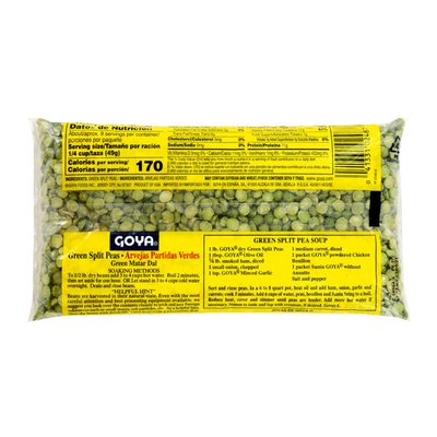 Goya Green Split Peas, Dry
