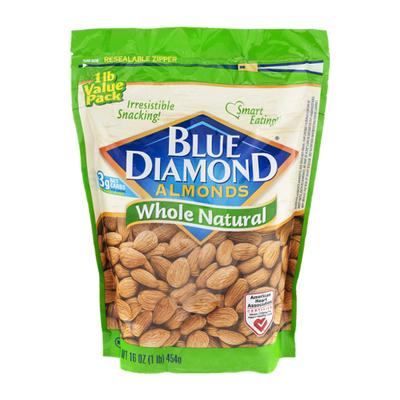 Blue Diamond Almonds, Whole Natural