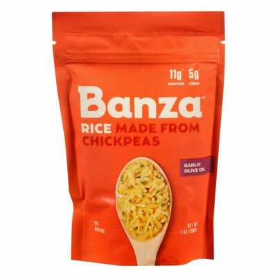 Banza Rice, Made from Chickpeas, Garlic Olive Oil