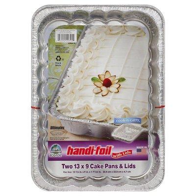 Handi-Foil Cake Pans & Lids